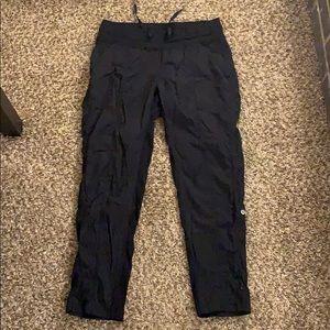 Black LULULEMON Cropped Studio Pants Size 10